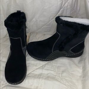 Black Boots With Fur Never Worn Stay Dry BareTrap